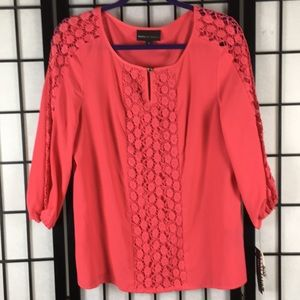 NEW size L Dana Bachman Coral Top NWT
